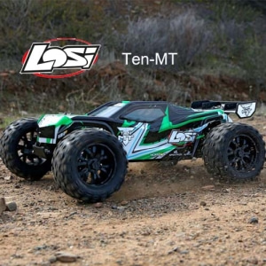 [텐엠티] Losi TEN-MT RTR 1/10 Monster Truck (Black/Green) AVC 자이로 버전