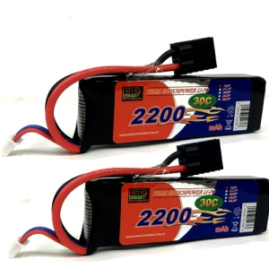 (2개묶음)EP파워2200mah 7.4V 30C 2S1P Lipo Battery w/TRaxxas Connector