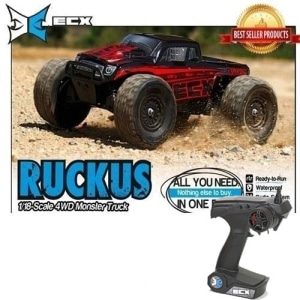 [러커스1/18 전동몬스터]RUCKUS 1/18 Scale 4WD Monster Truck red