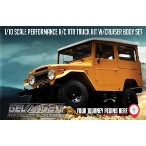 RC4WD Gelande II ARTR Truck Kit w/Cruiser Body Set - 송수신기 미포함