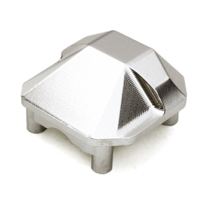 OBM1304SILVER CNC Machined Alloy Differential Cover for Axial 1/10 SCX10 II
