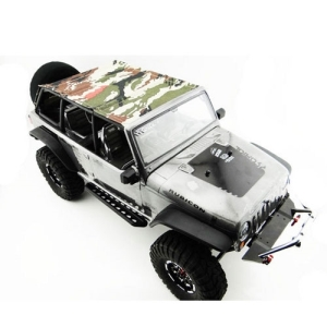 SCX14JST01 Jeep 4 Dr Soft Top camouflage Black rod