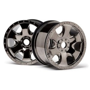 WARLOCK WHEEL BLACK CHROME (83x56mm/2pcs)