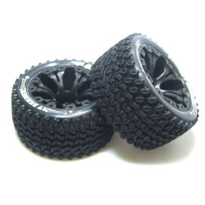 "L-T3209SBH ST-HUMMER 2.8"" TIRES - TRAXXAS Bead Soft Compound / Black 1/2 offset Rims (본딩완료/반대분)"