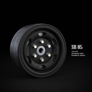 GM70504 SR05 1.9inch beadlock wheels (Matt black) (2)