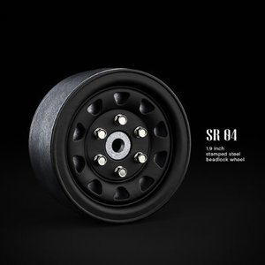 GM70494 SR04 1.9inch beadlock wheels (Matt black) (2)