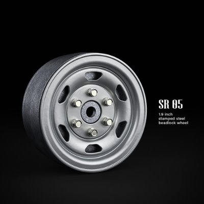 GM70502 SR05 1.9inch beadlock wheels (Semigloss silver) (2)