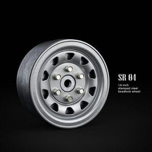 GM70492 SR04 1.9inch beadlock wheels (Semigloss silver) (2)