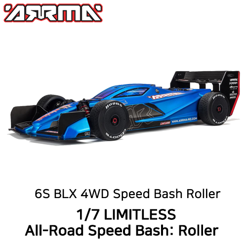입고완료 ARRMA 1:7 LIMITLESS All-Road Speed Bash: Roller