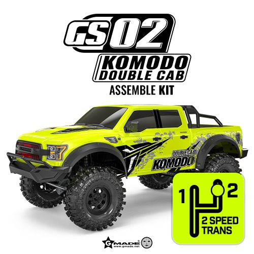 Gmade 1/10 GS02 KOMODO double cab TS with 2-speed Kit 2단미션 포함버젼