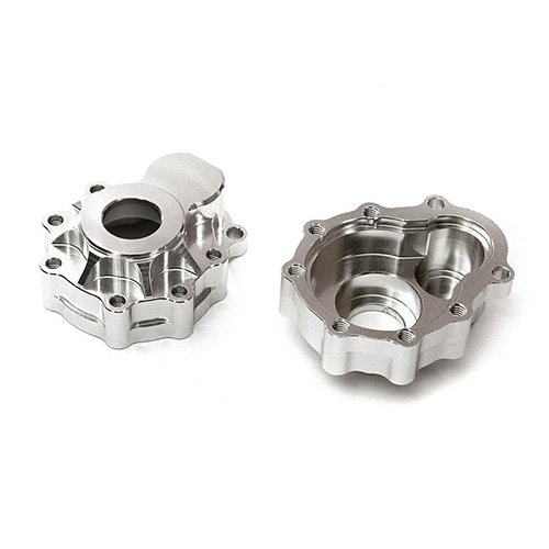 Billet Alloy Portal Outer Housings for Traxxas TRX-4 Scale & Trail Crawler C27975SILVER